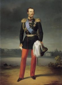 E.I. Botman. Portrait of Alexander II, 1856