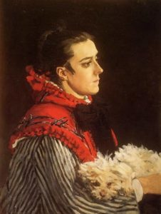 Camille with a Small Dog, 1866