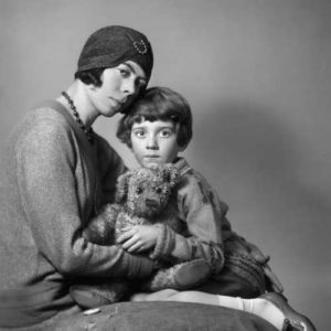 Christopher Robin and his mother