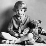 Christopher Robin and his teddy bear