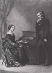 Clara Wieck and Robert Schumann