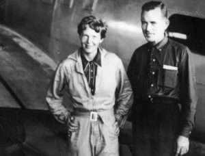Amelia Earhart and Fred Noonan during the round the world flight, Brazil, June 1937
