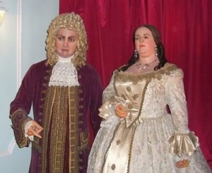 Figures of Biron and Anna Ioanovna