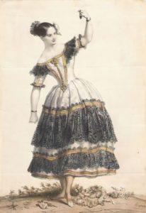 Fanny - famous ballerina of the XIX century