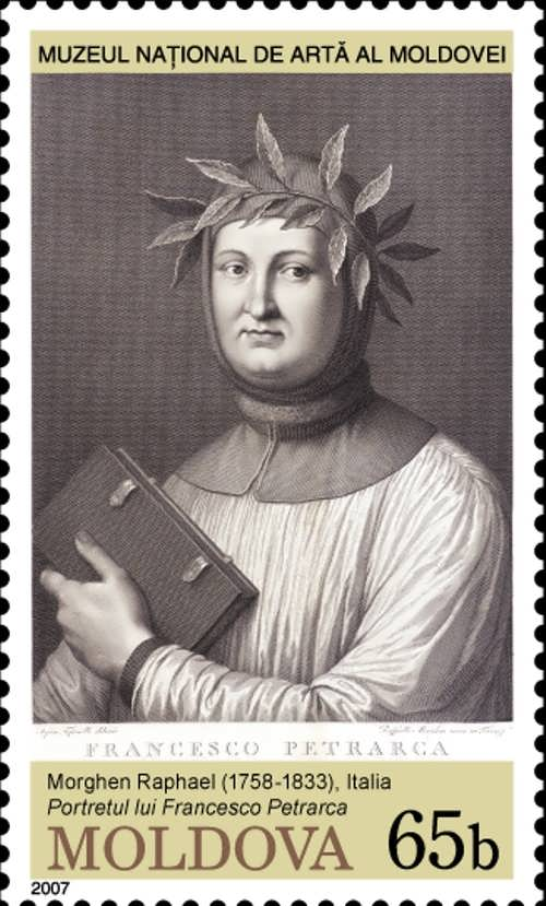 Stamp of Moldova dedicated to Petrarch