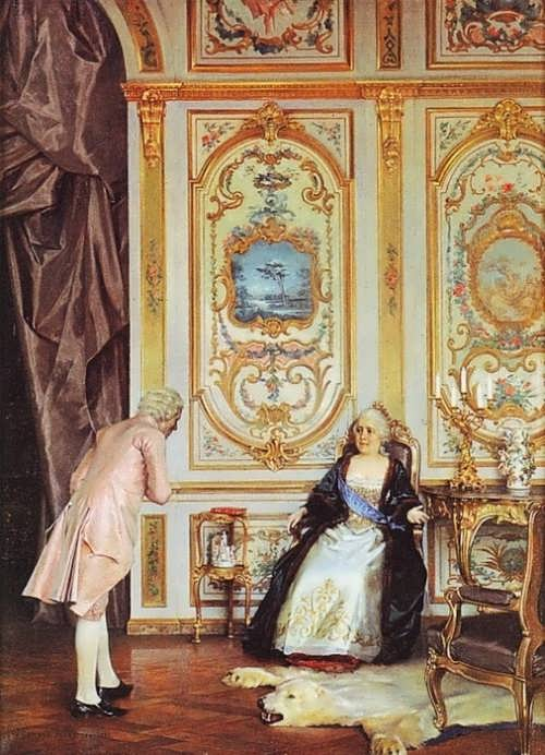 Gunnar Berndtson. Diderot and Catherine II, 1893