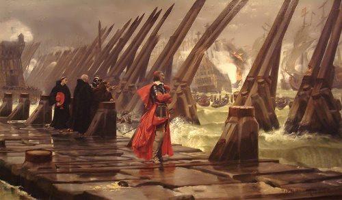 Henri Motte. Richelieu La Rochelle, 1881