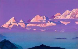 Himalayas. Pink Mountains