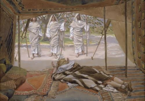 Abraham and Three Angels, James Tissot, 1896-1902