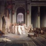 Jean-Leon Gerome. The murder of Caesar. 1867
