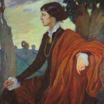 O. Kardovskaya. Portrait of Akhmatova, 1914