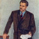 Pyotr Konchalovsky. Portrait of Simonov, 1950