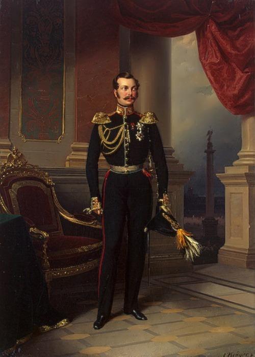 F. Kruger. Portrait of Alexander II, circa 1840