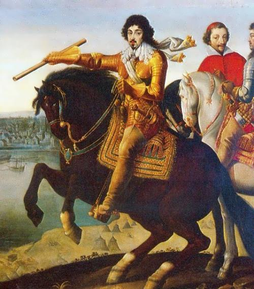 Louis XIII and cardinal de Richelieu