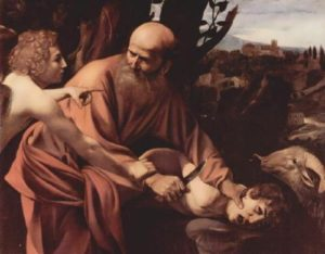 Sacrifice of Isaac. Michelangelo