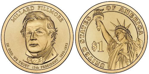 One dollar coin dedicated to Fillmore