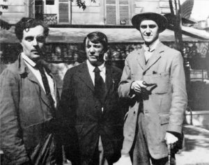 1916. Modigliani, Pablo Picasso and critic Andre Salmon