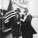 Nobel Peace prize winner Jane Addams, right