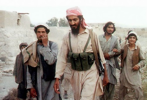 Osama with the Afghans in Jalalabad area during the war against the Soviet forces
