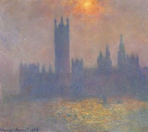 Houses of Parliament, the fog effect. Hermitage