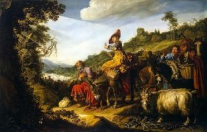 Pieter Lastman. Abraham on his way to Canaan. 1614