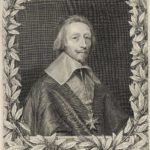 Robert Nanteuil. Engraved portrait of Cardinal Richelieu