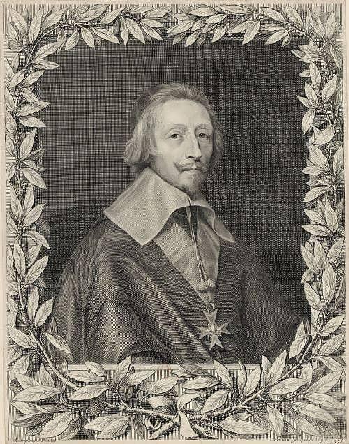 Robert Nanteuil. Engraved portrait of Cardinal Richelieu