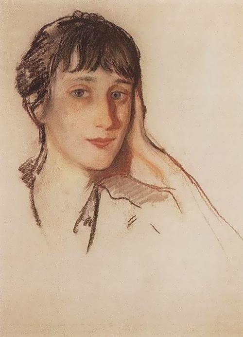 Zinaida Serebryakova. Ahmatova, 1922