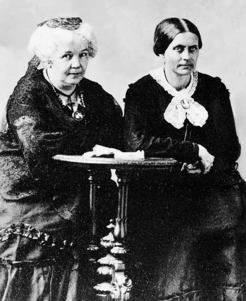 Elizabeth Stanton and Susan Anthony