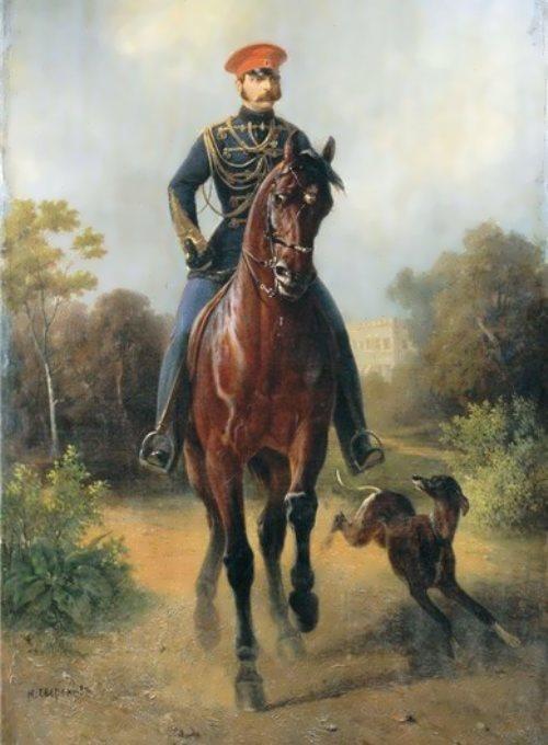 N.E. Sverchkov. Portrait of Emperor Alexander II