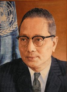 U Thant - first non-European secretary general of the United Nations