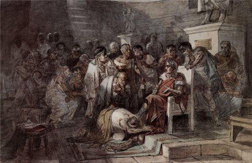 Vasily Surikov. The murder of Caesar. 1875