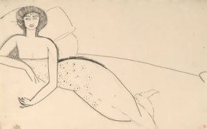 Woman lying on the bed (Anna Akhmatova), 1911
