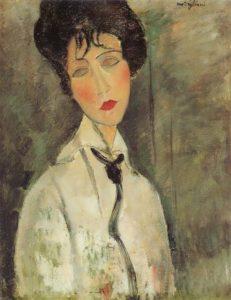 Woman with a Black Tie, 1917, Fujikawa Galleries