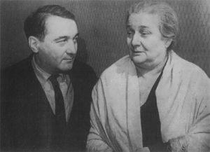 Akhmatova and her son Lev