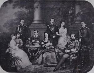 Emperor Alexander II with his family. End of 1860