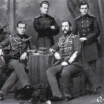 Emperor Alexander II with his sons Alexander, Vladimir and Alexei
