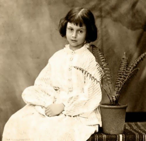 Alice at age 7, 1860