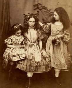 Edith, Lorina, and Alice Liddell, 1859