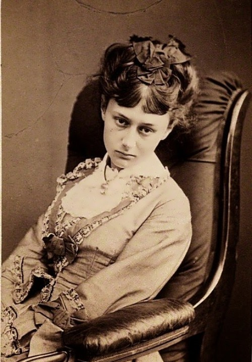 Alice Liddell in her youth. June 25, 1870