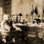 Roald Amundsen in his office