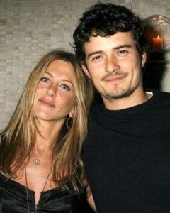 Aniston and Orlando Bloom