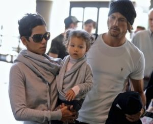 Berry, Gabriel Aubry and their daughter