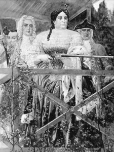 Anna Ioanovna, Biron and Volynsky hunting in Peterhof Zoo