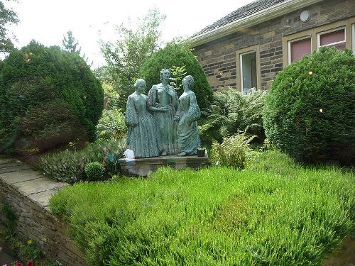 Monument to Bronte Sisters in Haworth