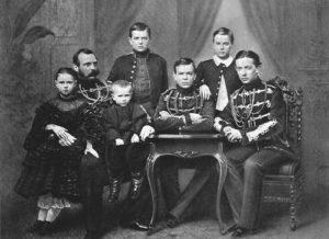 Emperor Alexander II with his children, 1860