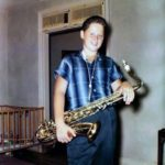 Bill was a member of a jazz band, he played the saxophone. 1958