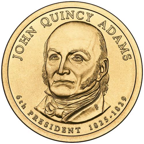 Coin dedicated to John Quincy Adams