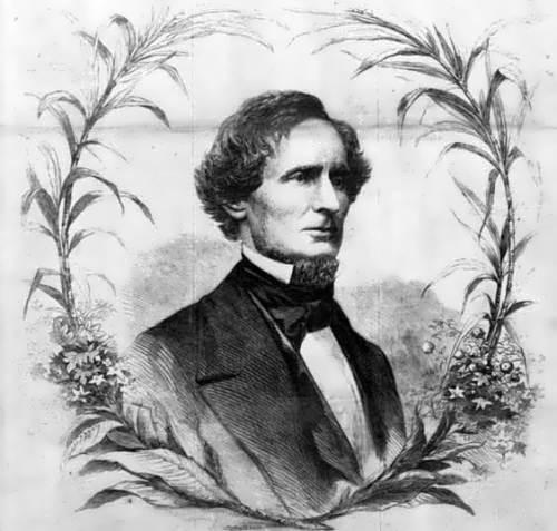 Jefferson Davis – first president of the new Southern Confederacy. Photo by Brady