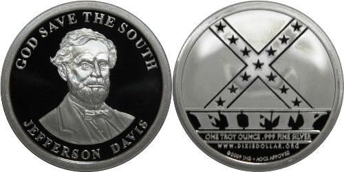 Coin dedicated to Davis